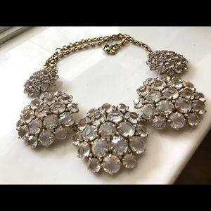 🔥Designer JCrew Gold Crystal studded Necklace🔥